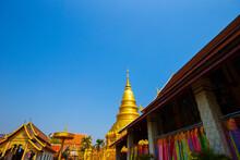Wat Phra That Hariphunchai Is A Buddhist Temple In Lamphun, Thailand