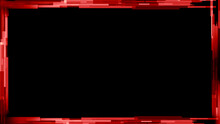 Display Red Tech Cyber Interface Overlays. Picture Frame On Isolated Background. Border Texture Overlay For Banner Or Cover. Stock Illustration