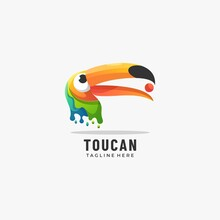Vector Logo Illustration Animal Gradient Colorful Style.