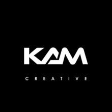 KAM Letter Initial Logo Design Template Vector Illustration