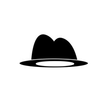 Hat Vector Icon On White Isolated Background.