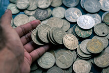 Old Philippine Coins Sold As Souvenirs In Binondo, Manila, Philippines