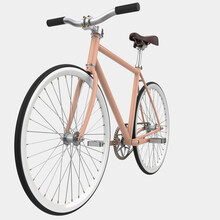City Bike Isolated On Background. 3d Rendering - Illustration