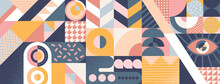 Abstract Geometric Background, Poster Or Banner Design. Vector Illustration