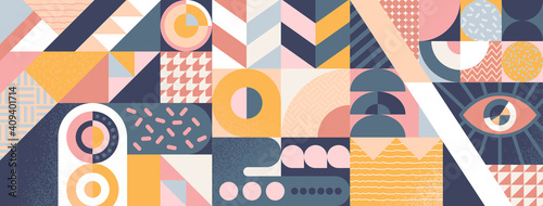 Abstract geometric background, poster or banner design Fototapet