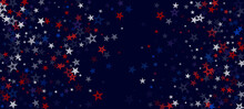 National American Stars Vector Background. USA 4th Of July 11th Of November Veteran's Labor Independence President's Memorial Day