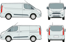 Vector Template Of Cargo Commercial Van