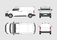 Vector Template Of Cargo Commercial Van