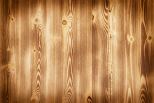 Old Wooden Background With Horizontal Textured Boards.