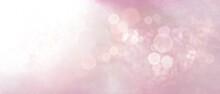 Banner Rosa Pastello Con Luce Magica E Bokeh Bianco