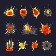 Bomb Explosion Colorful Set