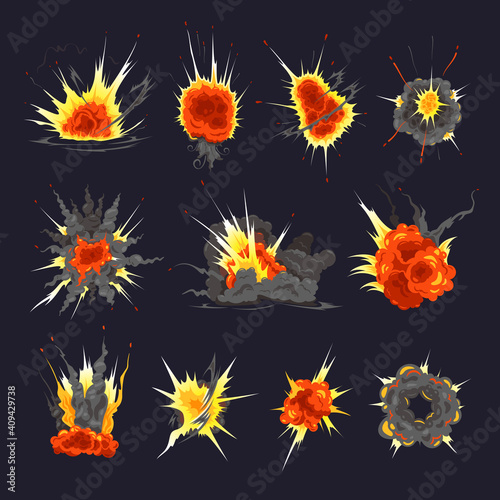 Fotografia, Obraz Bomb Explosion Colorful Set