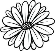 A Logo Design Of A Wildflower Flower Icon Buttercup, Daisy, Dandelion
