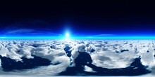 Panorama Of Clouds, HDRI, Environment Map , Round Panorama, Spherical Panorama, Equidistant Projection, Panorama 360, Flying Above The Clouds,sky Above The Clouds, 3D Rendering