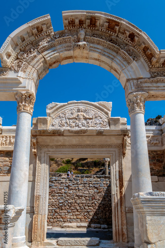 Fotografia, Obraz The Temple of Hadrian in the Ancient Ruins of Ephesus, Turkey