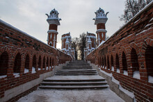 Figure Bridge In Tsaritsyno. Moscow. Russia
