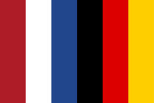 Illustration Of The Flag Of The Netherlands And Germany Next To Each Other