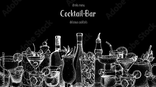 Fotografia Alcoholic cocktail sketch