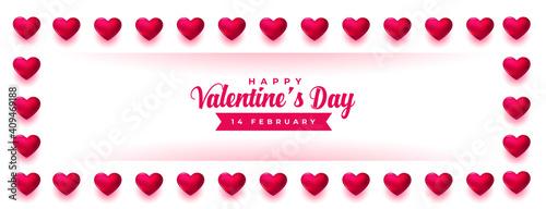 Obraz valentines day celebration hearts frame design - fototapety do salonu