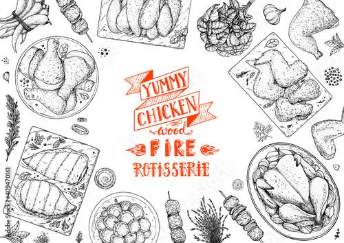 Chicken meat Fototapeta