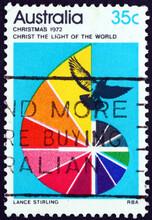Postage Stamp Australia 1972 Dove, Cross And Darkness Into Light