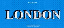 London Text Effect Design Vector