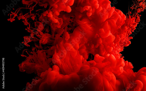 Obraz Red abstract texture on black. - fototapety do salonu