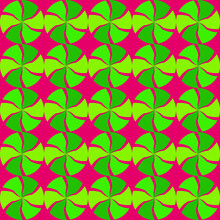 Seamless Pattern Of Wind Spinners On Magenta Vector Background, Seamless Vector, Green Motion Circles For Background, Fashion Textile Pattern, Digital Virtual Background, Trendy Wallpaper, Wind Wheels