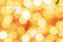 White Gold Abstract Lights. Festive Glitter Blur Bokeh Background. Defocused Winter Backdrop.