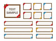 チョコとリボンのテロップベース・メッセージカード(3色4種セット)