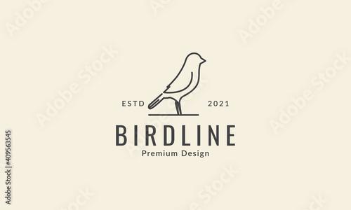 simple line bird canary  logo symbol icon vector graphic design illustration Fototapeta