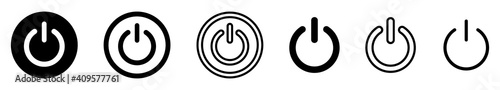 Fotografia On-off icon. Set of power buttons. Vector illustration.