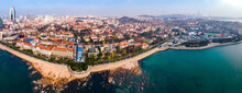 Aerial View Of European Architecture Landscape In Qingdao Old City