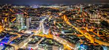 Nachtansicht Der Innenstadt Von Frankfurt Am Main