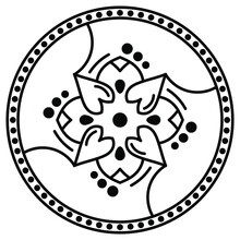 Black And White Circle With Patterns