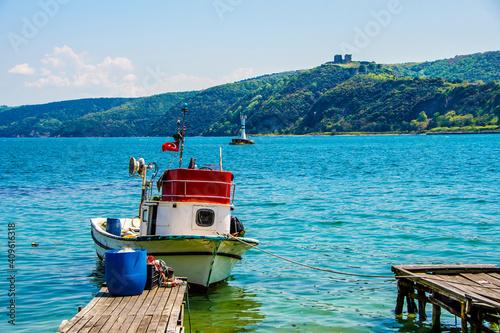 Obraz na plátně Rumeli Kavagi coastline view in Istanbul