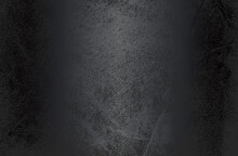 Luxury Black Metal Gradient Background With Distressed Natural, Genuine Animal Skin, Leather Texture. Vector Illustration