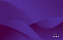 Minimalist Trendy Blue Purple Gradient Fluid Geometric Wavy Design
