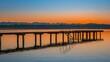 Sonnenuntergang, Dämmerung am Starnberger See, Bayern, Deutschland