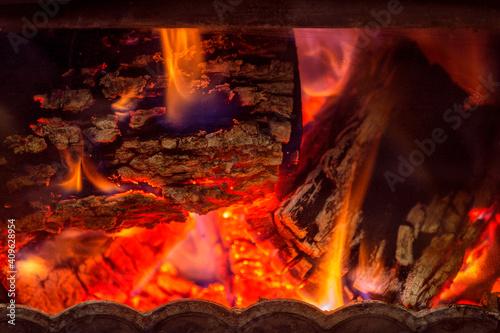 Fotografija Fire in the fireplace