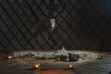 Beautiful Tibetan Bowl And Candlestick.