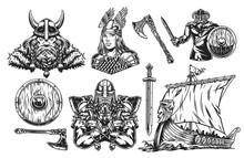 Vikings Vintage Elements Set