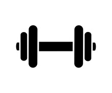Dumbbell Icon, Fitness Tool - Stock Vector