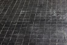 Floor Tiles With Dust Background.