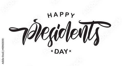 Fototapeta Vector Lettering composition of Happy Presidents Day