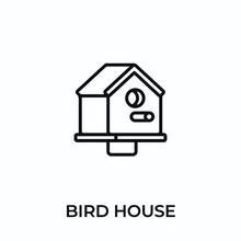 Bird House Icon Vector. Bird House Sign Symbol For Modern Design. Vector Illustration