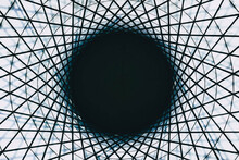 Black Hole Surrounded By Geometric Pattern Illusion