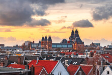 Amsterdam, Netherlands Rooftop View