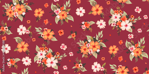 Seamless spring floral pattern 1 © Maria