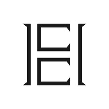 Modern Initial Letter He Or Eh Logo